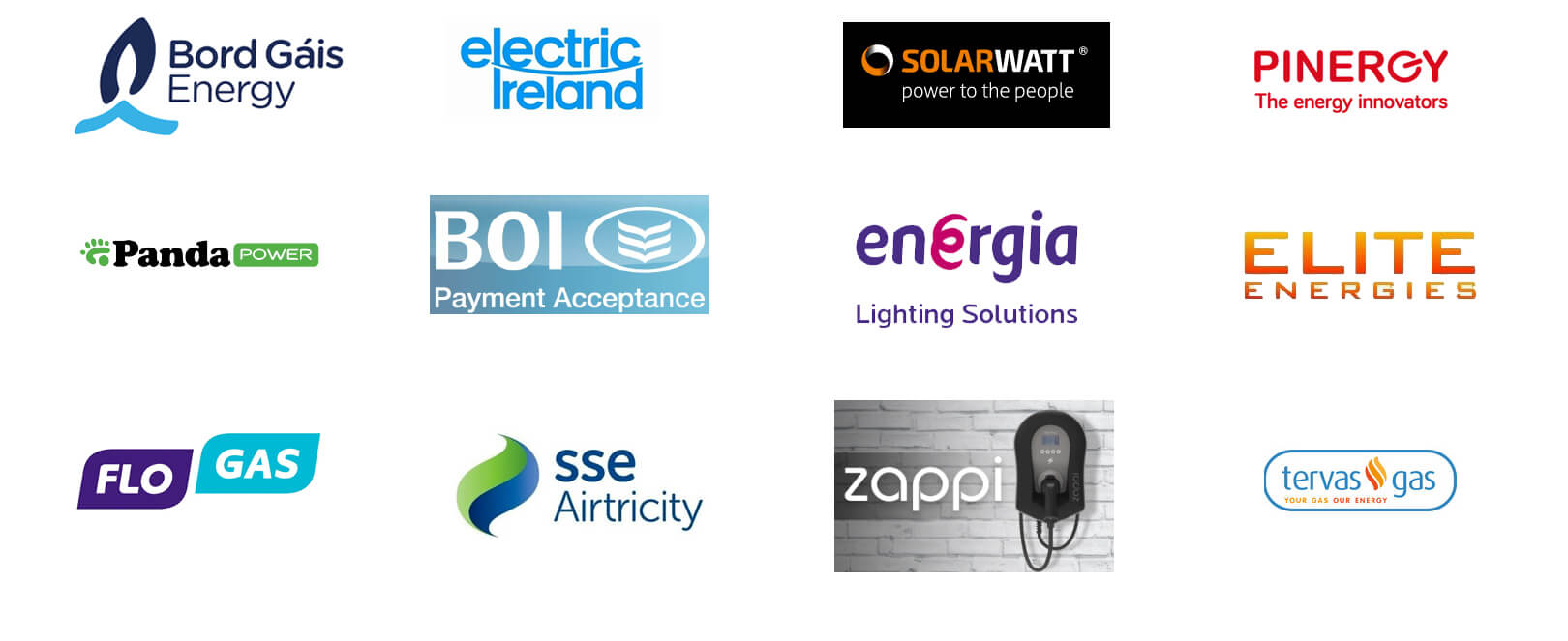 Green Energy Parters, Energy Suppliers